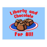 Liberty and Chocolate for All Products Post Card