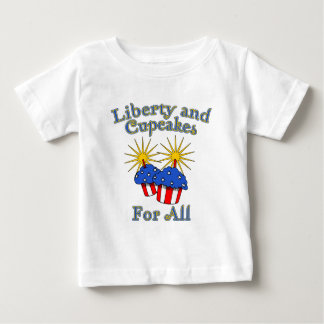 Liberty and Cupcakes for All Products Baby T-Shirt