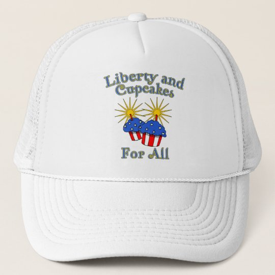 Liberty and Cupcakes for All Products Trucker Hat