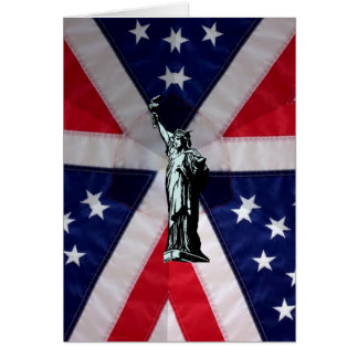 Liberty and Flag New Citizen Greeting Card