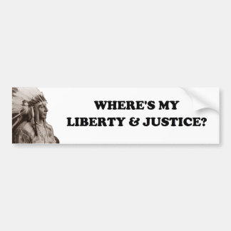 Liberty And Justice Bumper Sticker