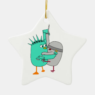 Liberty and Justice for all Ceramic Ornament