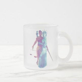 Liberty and Justice For All  _*frosted* Frosted Glass Coffee Mug