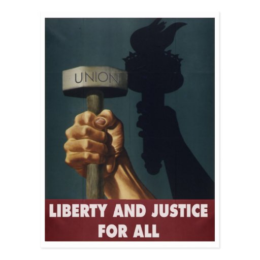 Liberty and Justice for All Postcard