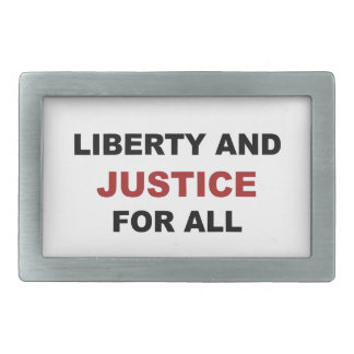 Liberty and JUSTICE for All Rectangular Belt Buckle