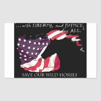 Liberty and Justice for Mustangs! Rectangular Sticker