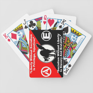 liberty and socialism playing cards