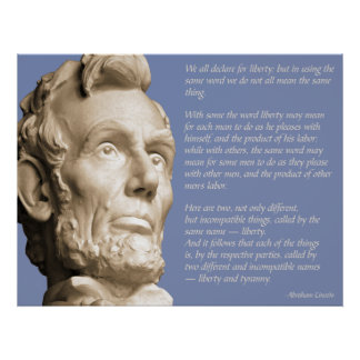 Liberty and Tyranny Quote Poster