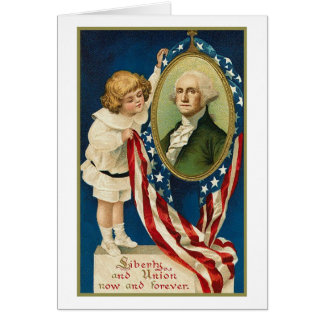 Liberty and union now and forever card