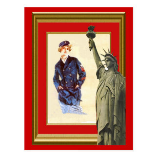 Liberty, and women in the navy postcard