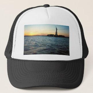 Liberty at sunset trucker hat