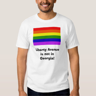 Liberty Avenueis not in Georgia! - Augusta back T-shirt
