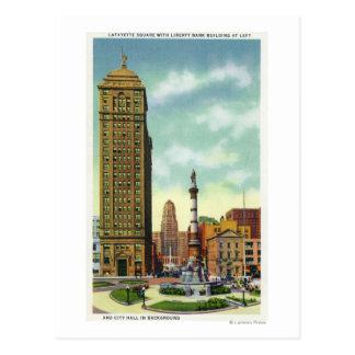 Liberty Bank Bldg, City Hall Postcard