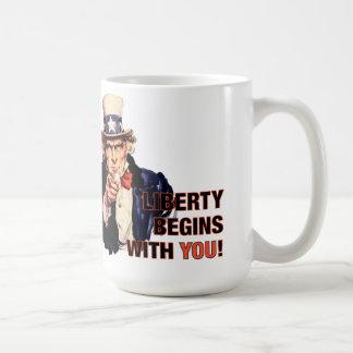'Liberty Begins With You' Coffee Mug