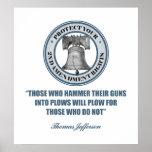 Liberty Bell - 2da cita de la enmienda de Jefferso Poster
