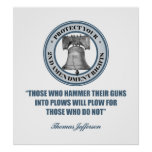 Liberty Bell - 2da cita de la enmienda de Jefferso Póster