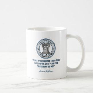 Liberty Bell - 2da cita de la enmienda de Jefferso Tazas De Café