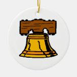 Liberty Bell Adorno Redondo De Cerámica