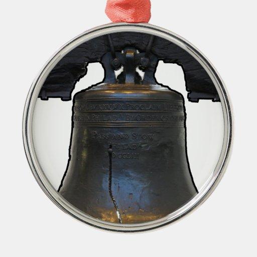 Liberty Bell Adorno Redondo Plateado