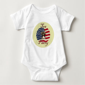 Liberty Bell and Flag Tea Party Baby Bodysuit