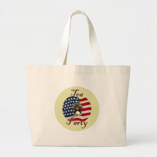 Liberty Bell and Flag Tea Party Large Tote Bag