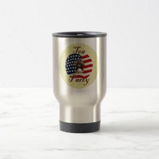 Liberty Bell and Flag Tea Party Travel Mug