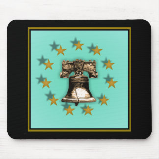 Liberty Bell and Gold Stars Mouse Pad