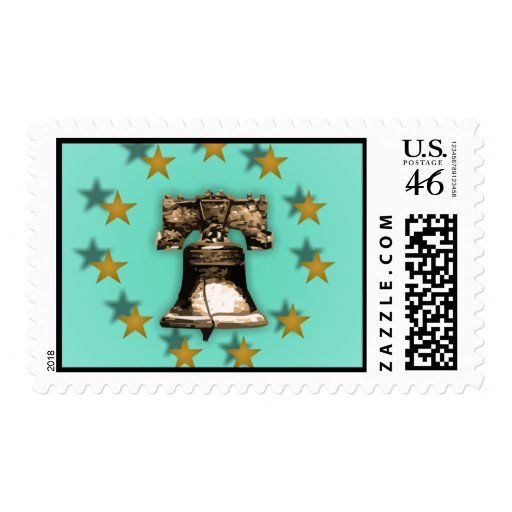 Liberty Bell and Gold Stars Postage