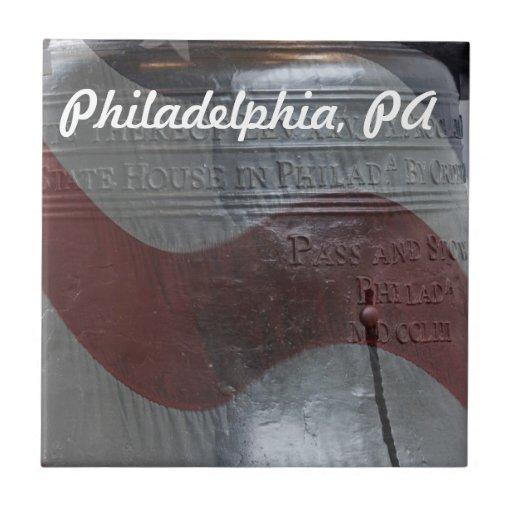 Liberty Bell Azulejo Cuadrado Pequeño