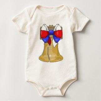 Liberty Bell Bow Baby Bodysuit