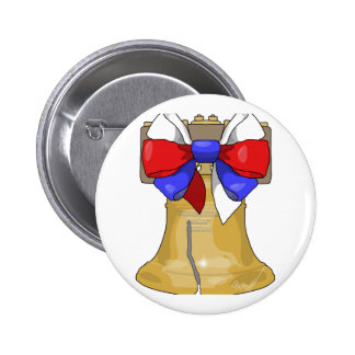 Liberty Bell Bow Pinback Button