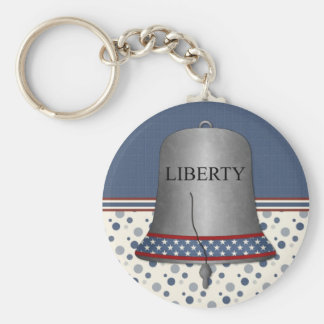 Liberty Bell Card Basic Round Button Keychain