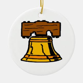 Liberty Bell Ceramic Ornament