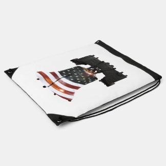 Liberty Bell con la bandera americana Mochilas