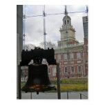 Liberty Bell e independencia Pasillo Postal