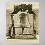 Liberty Bell en la independencia Pasillo 1901 Poster
