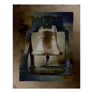 LIBERTY BELL FAUX VINTAGE POSTER