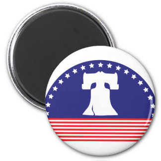 liberty bell flag 2 inch round magnet