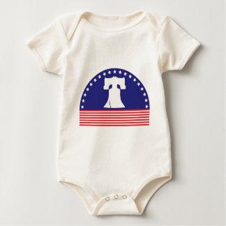 liberty bell flag baby bodysuit