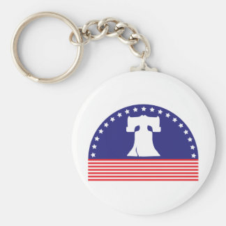 liberty bell flag basic round button keychain