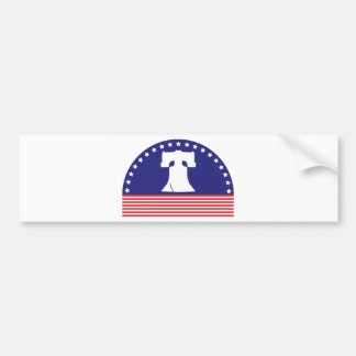 liberty bell flag bumper sticker