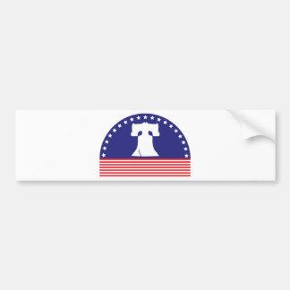 liberty bell flag bumper sticker