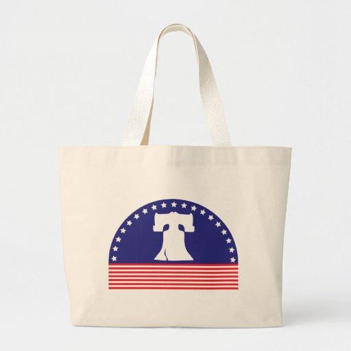liberty bell flag canvas bag