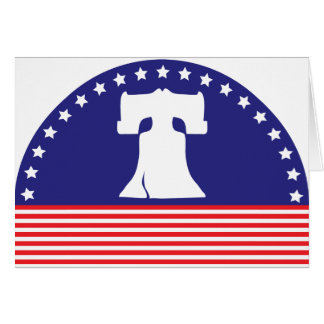 liberty bell flag card