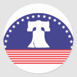 liberty bell flag classic round sticker