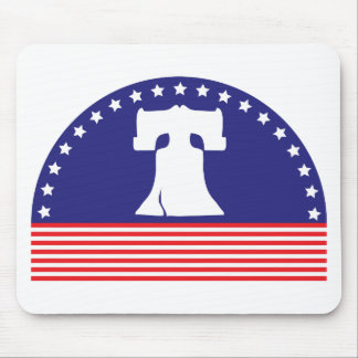 liberty bell flag mouse pad