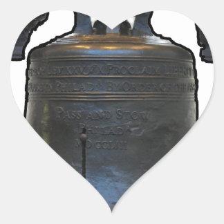 Liberty Bell Heart Sticker