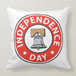 Liberty Bell Independence Day Pillow