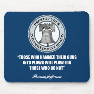 Liberty Bell -Jefferson 2nd Amendment Quote Mouse Pad