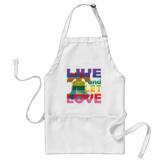 Liberty Bell Live Let Love Adult Apron